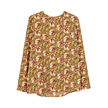 Buy Mango Printed Blouse, Rust/Copper Online at johnlewis.com