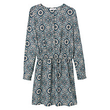 Buy Mango Printed Dress, Turquoise/Aqua Online at johnlewis.com