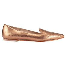 Buy Jigsaw Camile Pony Pointed Flat Shoes Online at johnlewis.com