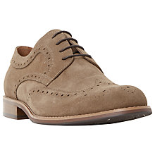 Buy Dune Radcliffe Derby Lace-Up Brogue Shoes, Sand Online at johnlewis.com