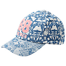 Buy Fat Face Butterfly Print Cap, Indigo Online at johnlewis.com