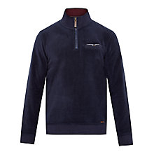 Buy Ted Baker Clikup Funnel Neck Fleece, Navy Online at johnlewis.com