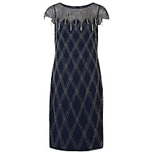 Buy Jacques Vert Criss Cross Embellished Dress, Dark Blue Online at johnlewis.com