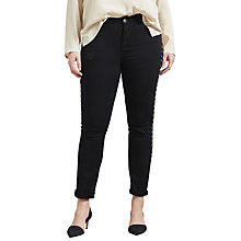 Buy Violeta by Mango Stud Detail Slim Fit Jeans Online at johnlewis.com