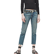Buy Mango Straight Fit Joe Jeans, Open Blue Online at johnlewis.com