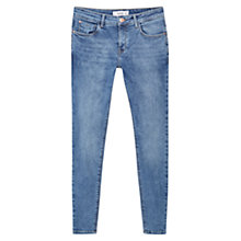 Buy Mango Kim Push Up Skinny Jeans, Medium Blue Online at johnlewis.com