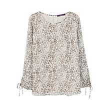 Buy Violeta by Mango Leopard Print Blouse, Multi Online at johnlewis.com