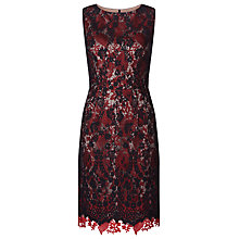 Buy Kaliko Double Layer Lace Dress, Multi/Black Online at johnlewis.com