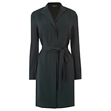 Buy Warehouse Zip Front Belt Dress, Dark Green Online at johnlewis.com