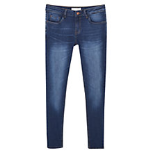 Buy Mango Kim Skinny Push-Up Jeans, Dark Blue Online at johnlewis.com