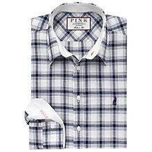 Buy Thomas Pink Bradstock Checked Shirt, White/Navy Online at johnlewis.com