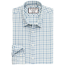 Buy Thomas Pink Waterloo Textured Shirt, Pale Blue/White Online at johnlewis.com