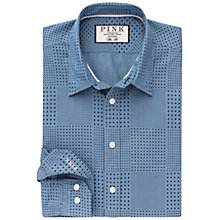 Buy Thomas Pink Stretton Spot Slim Fit Shirt, Blue/Navy Online at johnlewis.com