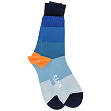 Buy Thomas Pink Ombre Striped Socks, Blue/Orange Online at johnlewis.com