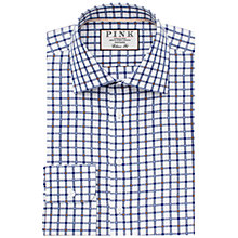 Buy Thomas Pink Lyndon Check Classic Fit XL Sleeve Shirt, White/Navy Online at johnlewis.com