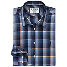 Buy Thomas Pink Iden Checked Slim Fit Shirt, Navy/Blue Online at johnlewis.com