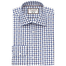 Buy Thomas Pink Lyndon Check Slim Fit Shirt, White/Navy Online at johnlewis.com