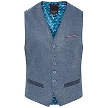 Buy Ted Baker Montwai Herringbone Waistcoat, Blue Online at johnlewis.com