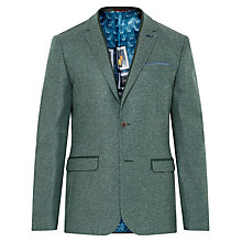 Buy Ted Baker Montelo Herringbone Blazer, Green Online at johnlewis.com