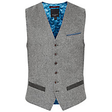Buy Ted Baker Montwai Herringbone Waistcoat, Grey Online at johnlewis.com