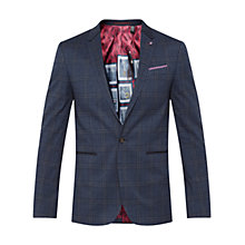 Buy Ted Baker Lavista Checked Blazer, Blue Online at johnlewis.com