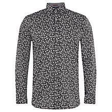 Buy Ted Baker Way to Go Paisley Print Shirt, Black Online at johnlewis.com
