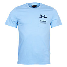 Buy Barbour Binoculars T-Shirt, Light Blue Online at johnlewis.com