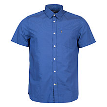 Buy Barbour Falstone Short Sleeve Shirt, Navy Online at johnlewis.com