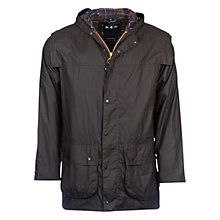 Buy Barbour Classic Durham Waxed Jacket, Sage Online at johnlewis.com