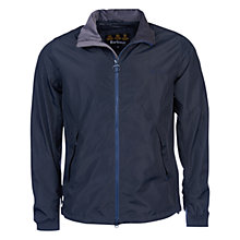 Buy Barbour Admirality Harrington Jacket, Navy Online at johnlewis.com