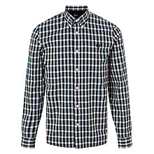 Buy Fred Perry Herringbone Gingham Shirt, Ivy Online at johnlewis.com