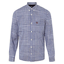 Buy Fred Perry Distorted Gingham Shirt, French Navy Online at johnlewis.com