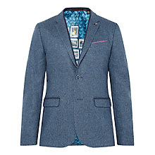 Buy Ted Baker Montelo Herringbone Suit Jacket, Blue Online at johnlewis.com