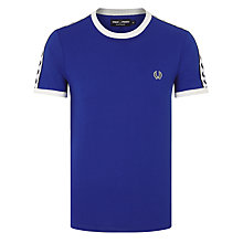Buy Fred Perry Sports Authentic Taped Ringer T-Shirt, Regal Online at johnlewis.com