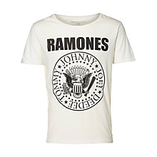 Buy Selected Homme Ramones T-shirt, Egret Online at johnlewis.com