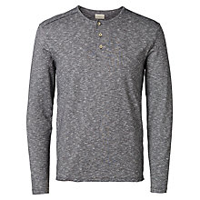Buy Selected Homme Rayley Jersey Top, Grey Online at johnlewis.com