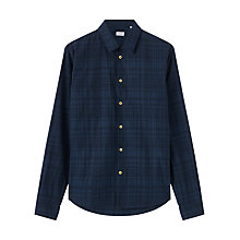 Buy Jigsaw Tonal Check Shirt, Petrol Online at johnlewis.com