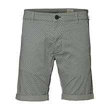 Buy Selected Homme Paris Mini Cross Print Shorts, Slate Grey Online at johnlewis.com