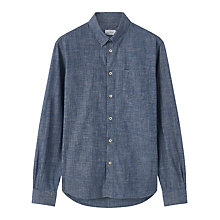 Buy Jigsaw Bound Edge Slim Fit Chambray Shirt, Blue Online at johnlewis.com