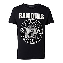 Buy Selected Homme Ramones Short Sleeve T-Shirt Online at johnlewis.com