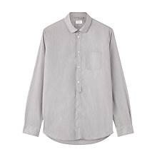 Buy Jigsaw Fine Stripe Round Collar Shirt, Grey Online at johnlewis.com