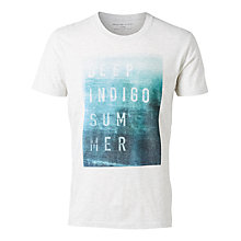 Buy Selected Homme Deepingido Short Sleeve Crew Neck T-Shirt, Egret Online at johnlewis.com