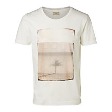 Buy Selected Homme Jake T-Shirt, Cream Online at johnlewis.com
