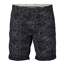 Buy Selected Homme Print Shorts, Navy Online at johnlewis.com
