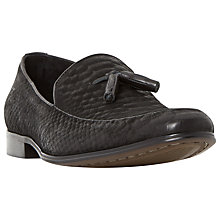 Buy Dune Rockwell Reptile Effect Tassle Loafers, Black Online at johnlewis.com