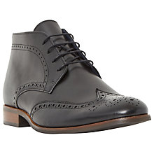 Buy Dune Manhatten Leather Brogue Boots Online at johnlewis.com