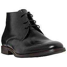 Buy Dune Moreton Smart Leather Chukka Boots, Black Online at johnlewis.com