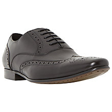 Buy Dune Raymond Leather Oxford Brogue Shoes, Black Online at johnlewis.com