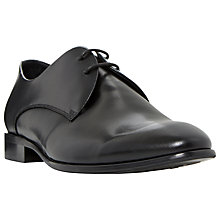 Buy Dune Revellery Embossed Derby Shoes, Black Online at johnlewis.com