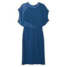 Buy Mango Cut Out Back Dress, Dark Blue Online at johnlewis.com